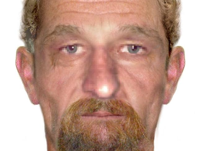 An age progression image issued by Queensland police of John Victor Bobak, who is wanted over his alleged involvement in the December 1991 murder of Peter George Wade and Maureen Ambrose.