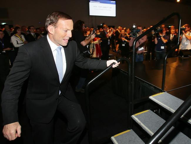 Prime Minister Tony Abbott at the State Liberal convention at the RNA Convention Centre. Pic Peter Wallis