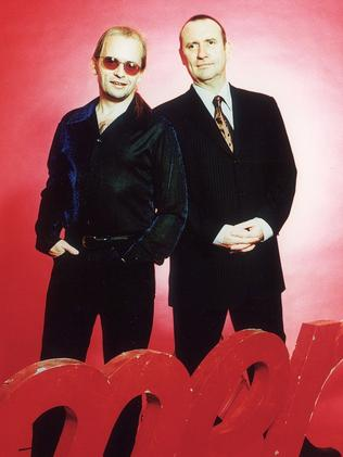 Greg Ham and Colin Hay pictured in 1999. Picture: Supplied
