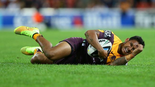 Ben Barba has shown few glimpses of the form that made him a star at the Bulldogs. Pic Darren England.