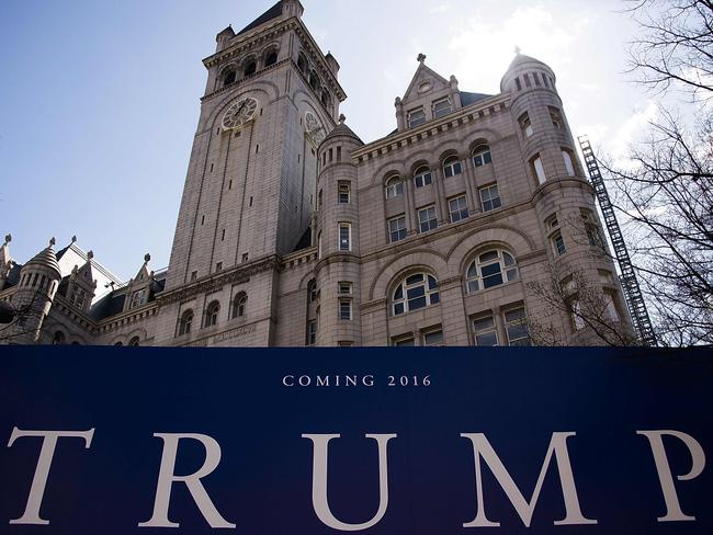 Trump International Hotel in Washington, DC is under construction but promises to reopen this year. Picture: AFP / Jim Watson