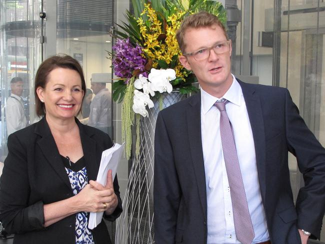 One Big Switch director Joel Gibson with Federal Health Minister Sussan Ley. Picture: Supplied