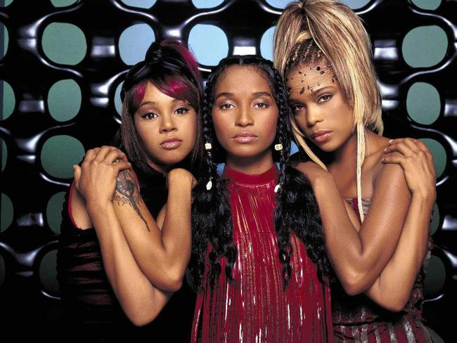 TLC during the 'No Scrubs' era - from left: Lisa 'Left Eye' Lopes, Chilli and T-Boz.