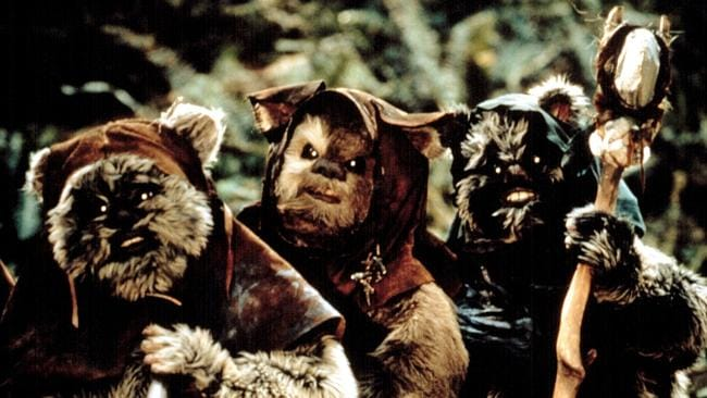 Ewoks from Star Wars Episode VI: Return of the Jedi. Picture: Everett Collection