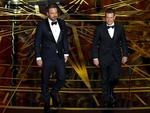 Ben Affleck and Matt Damon walk onstage during the 89th Annual Academy Awards on February 26, 2017 in Hollywood, California. Picture: Getty