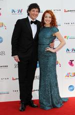 Lachlan Gillespie and Emma Watkins from The Wiggles at the 2015 Aria Awards held at The Star in Pyrmont. Picture: Christian Gilles
