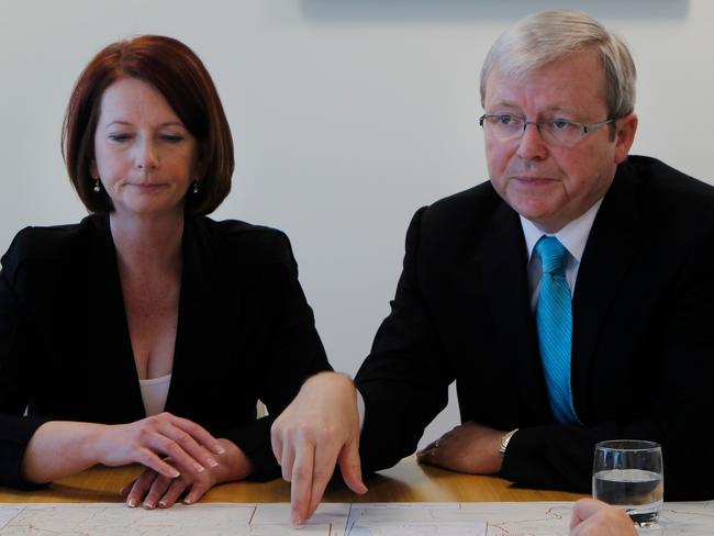 Julia Gillard took the leadership from Kevin Rudd on the back of a poll which, now, the Coalition would kill for. Picture: Andrew Meares