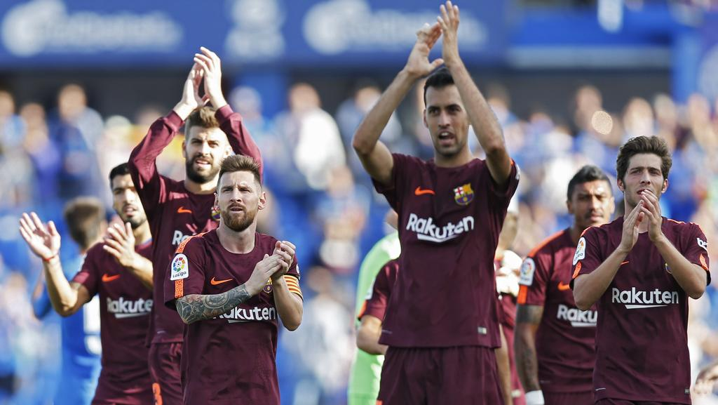 Barcelona's players.