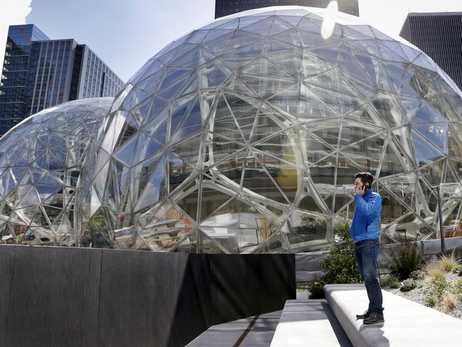 Amazon's futuristic campus in Seattle. Picture: Elaine Thompson/AP Photo