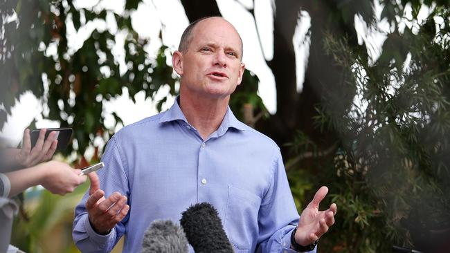 Campbell Newman fronts the media at the end of one of his toughest weeks as Premier.