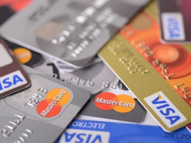 Visa and MasterCard credit cards generic