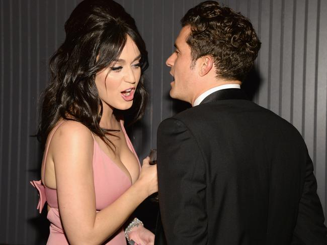 Perry and Bloom were seen at several parties following the Golden Globes.