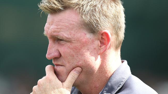 Magpies coach Nathan Buckley. Picture: Wayne Ludbey