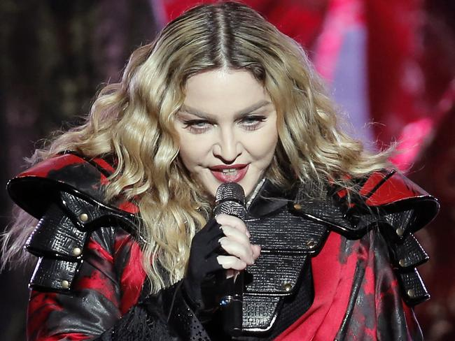 Madonna during the Rebel Heart World Tour in Macau last month. Picture: AP / Kin Cheung