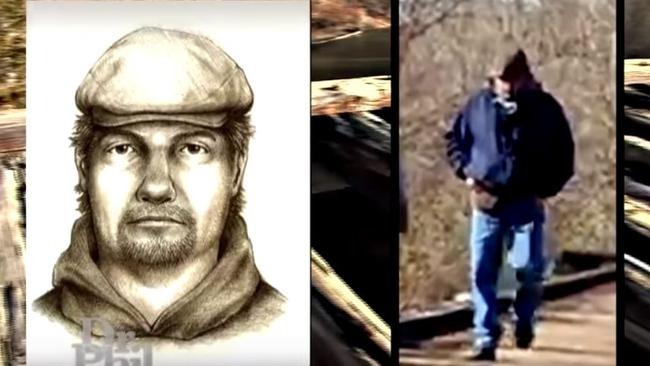 A sketch and a photo of the man police believe may be behind the murder.