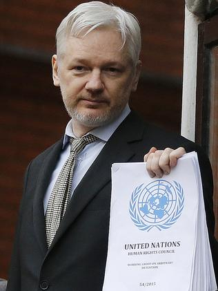 Positive ruling ... Julian Assange wants the UK and Sweden to follow a UN panel ruling in his favour. Picture: AP/Frank Augstein