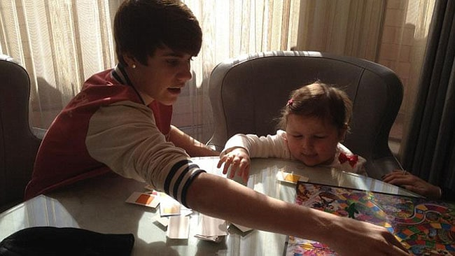 "Avalanna's mother, Aileen, described the visit as a ""wonderful, fun moment."" Picture: Courtesy of Facebook"