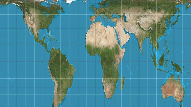 World map with accurate sizes gall peters map throws schools into a critics argued the gall peters projection is more accurate in terms of land size picture wikicommonssourcesupplied gumiabroncs Choice Image