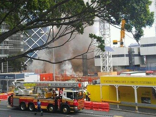 Six fire crews were sent to deal with the fire. Picture: Twitter/Nathan Lee