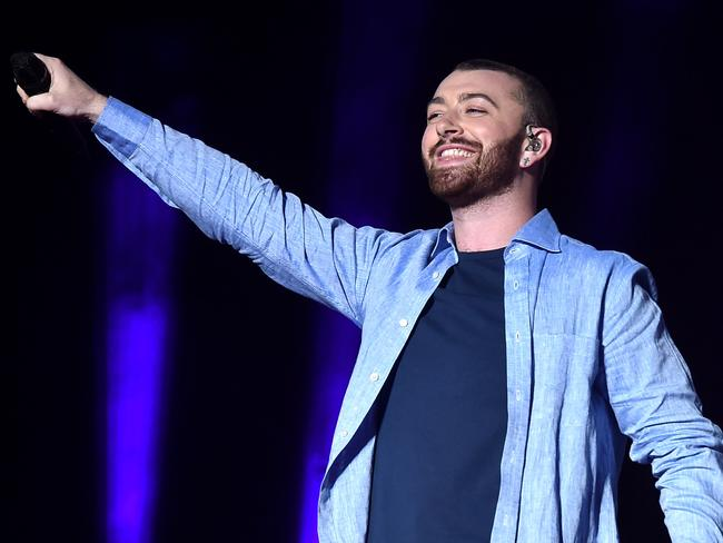 Guest singer Sam Smith performs onstage during the Disclosure show on day 2 of the 2016 Coachella Valley Music & Arts Festival. Picture: Kevin Winter/Getty Images for Coachella