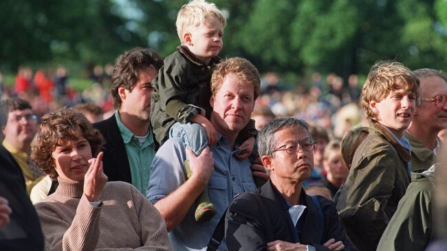 Charles, Earl of Spencer (C) with his son Louis in 1998. Photo: Courtesy Spencer family