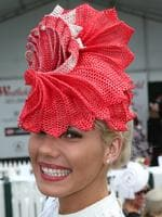 Milly Smith was winner of the Best Headwear category in the Fashions on the Field.