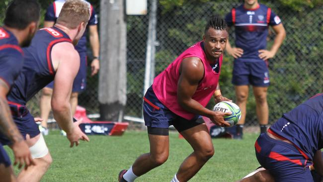 Genia sports a new haircut at training on Sunday. (Melbourne Rebels)