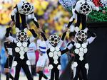 SAO PAULO, BRAZIL - JUNE 12: Artists perform during the Opening Ceremony of the 2014 FIFA World Cup Brazil prior to the Group A match between Brazil and Croatia at Arena de Sao Paulo on June 12, 2014 in Sao Paulo, Brazil. (Photo by Buda Mendes/Getty Images)