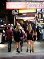 Girls enjoying the night out. 24 hrs overnight in Kings Cross from 10:30pm Thursday until 5:00am Friday. Picture: Bill Hearne