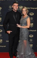 Kyle Feldt and Deanna Finn during the 2017 Dally M Awards at The Star, Sydney. Picture: Brett Costello