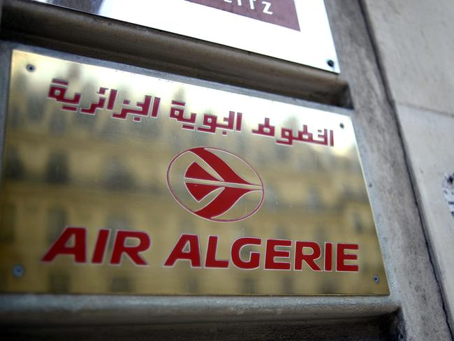Air Algerie airline's office in Paris. Picture: AFP Photo/Stephane de Sakutin