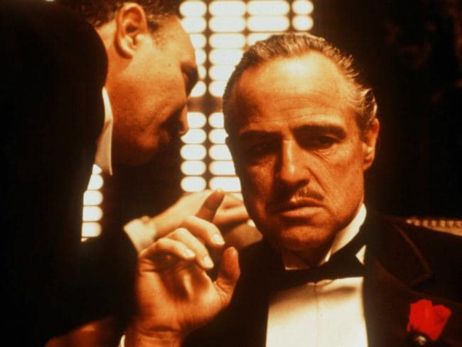 Marlon Brando stuffed cotton wool in his cheeks to perfect the Don Corleone look.