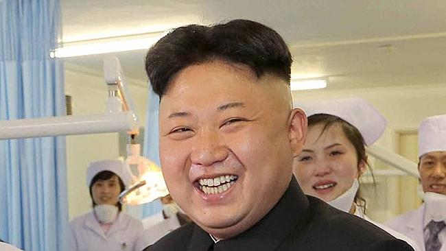 """The real thing... Kim is known as """"Fatty the Third"""" by Chinese web users. Picture: AFP"""