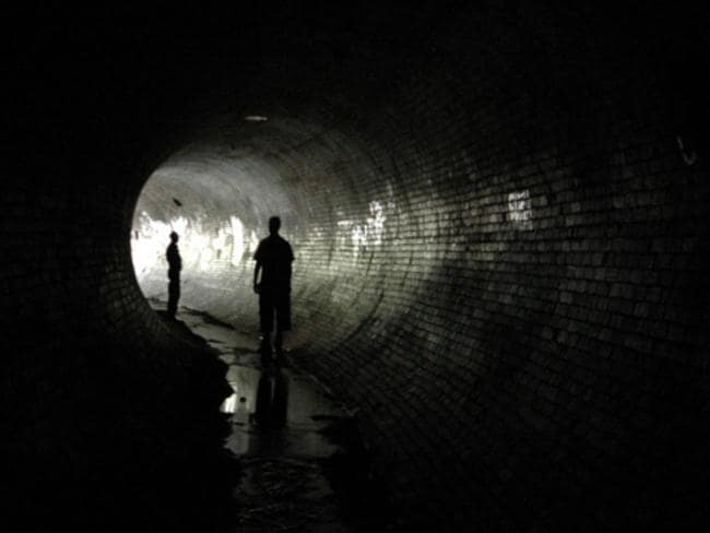 Deep underneath Melbourne's streets are tunnel explorers. Picture: Elliot V. Schoemaker.