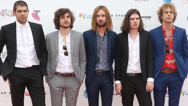Crew ... Tame Impala scoop up the Best Group award. Picture: Dylan Robinson