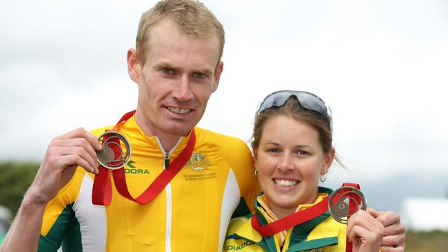 Aussie bronze-medallists Daniel McConnell and Rebecca Henderson. Picture: Adam Head