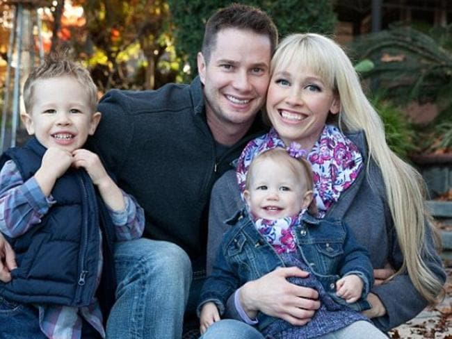 Sherri Papini with her husband Keith and their two young children before her alleged kidnap. The family has since moved out of town. Picture: Facebook