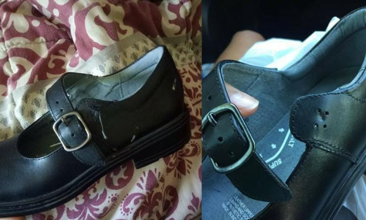 Parents furious after Clarks shoes fall apart on the first day of school
