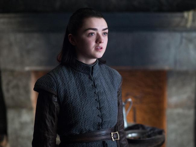 Ayra Stark (Maisie Williams) in Game of Thrones. Picture: Supplied/Foxtel