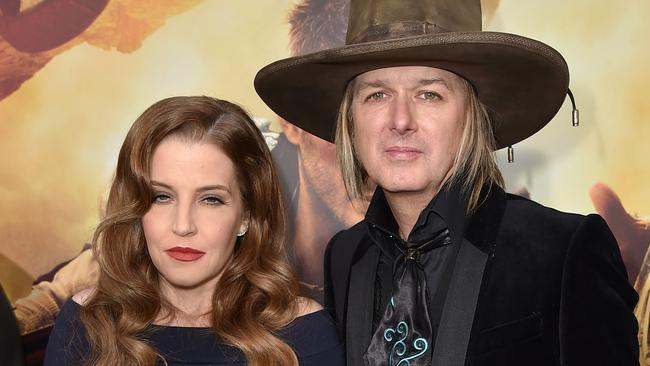 Lisa Marie Presley and musician Michael Lockwood in 2015.