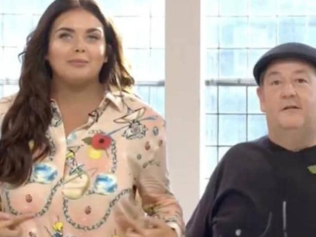Scarlett Moffatt's unfortunate outfit. Picture: Channel 4