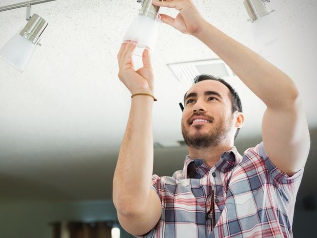 Switching lights for energy-efficient LEDs makes a big difference. Picture: iStock