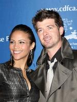 Actress Paula Patton and singer Robin Thicke attend The Children's Defense Fund - California 18th Annual Los Angeles Beat the Odds Awards on December 4, 2008 in Beverly Hills, California. Picture: Getty