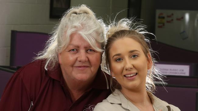Sue Fraser and April McNamara smashed stereotypes to find jobs they enjoy. Picture: Stuart Milligan.