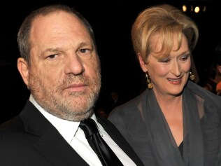 LOS ANGELES, CA - JANUARY 29: Producer Harvey Weinstein (L) and actress Meryl Streep attend the 18th Annual Screen Actors Guild Awards at The Shrine Auditorium on January 29, 2012 in Los Angeles, California. (Photo by Kevin Winter/Getty Images)