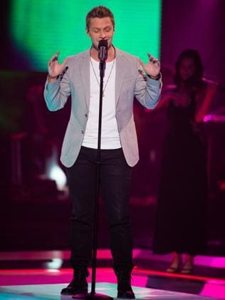 The Voice?s Luke Kennedy from Team Ricky. Picture: Channel 9