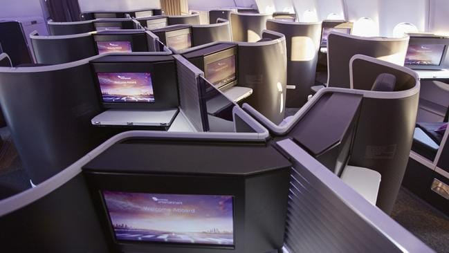 New business class cabins on Virgin Australia's A330s have been a hit with travellers. Picture: Supplied.