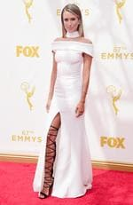 Renee Bargh attends the 67th Annual Primetime Emmy Awards in Los Angeles. Picture: Getty