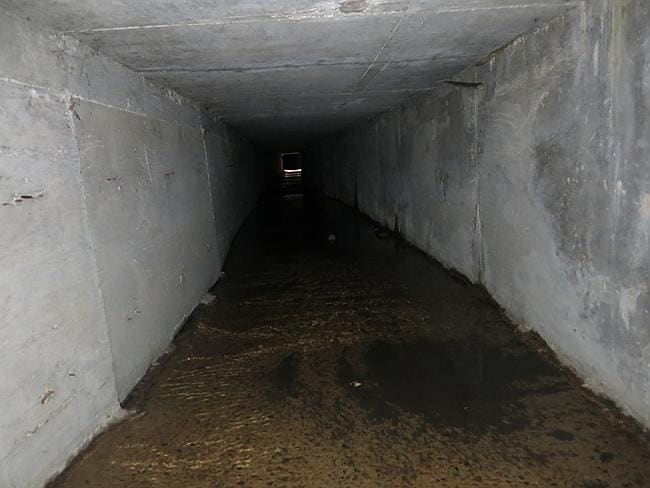 "An interconnected tunnel in the city's drainage system that infamous drug boss Joaquin Guzman Loera, ""El Chapo"" used to evade authorities."