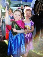 Cousins Makayla and Summah Lastarza, both 4, are pretty princesses themselves! Picture: Simon Cross